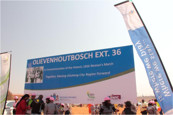 The officials , the SAWIC members from other South African Provinces, the community of Olivenhoutbosch in Pretoria.