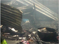 The remains of the burned home in Slovo – Cape Town